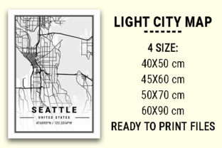 Print on Demand: Seattle Light City Map Graphic Photos By tienstencil