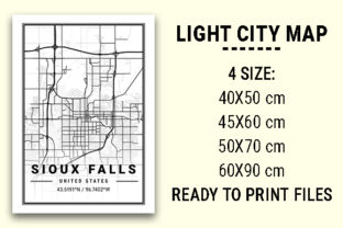 Print on Demand: Sioux Falls Light City Map Graphic Photos By tienstencil