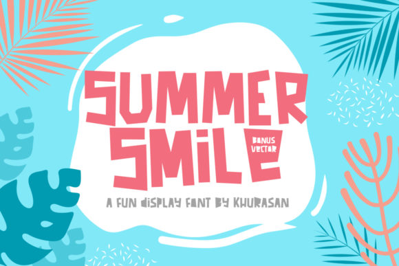 Print on Demand: Summer Smile Display Font By Khurasan