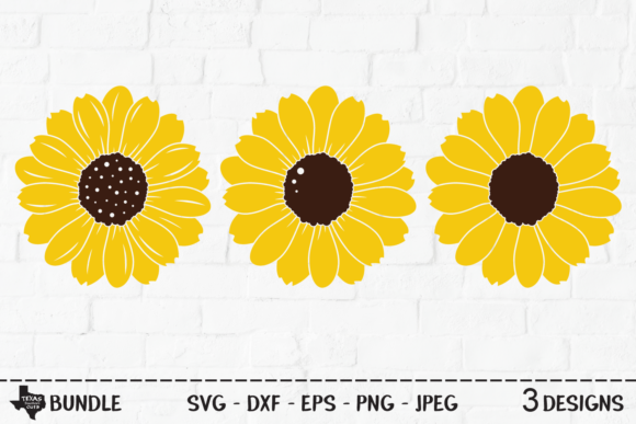 Print on Demand: Sunflower Bundle - Flower Designs Graphic Crafts By texassoutherncuts