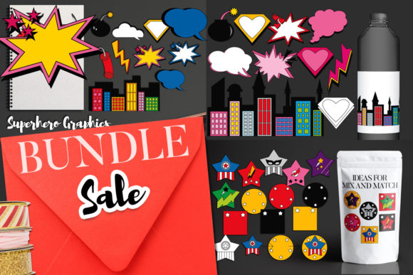 Print on Demand: Superhero Comic Bundle Graphic Illustrations By Revidevi