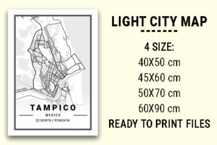 Print on Demand: Tampico Light City Map Graphic Photos By tienstencil