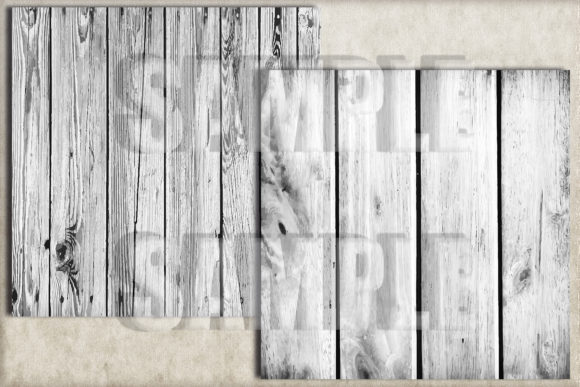 White Rustic Wood Digital Paper Graphic Backgrounds By paperart.bymc - Image 2