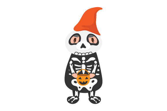 Skeleton Gnome Halloween Archivo de Corte Craft Por Creative Fabrica Crafts