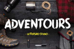 Print on Demand: Adventours Display Font By Lettersiro Co.