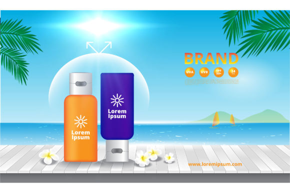 Advertising Sunscreen Cosmetics Graphic Illustrations By nhongrand