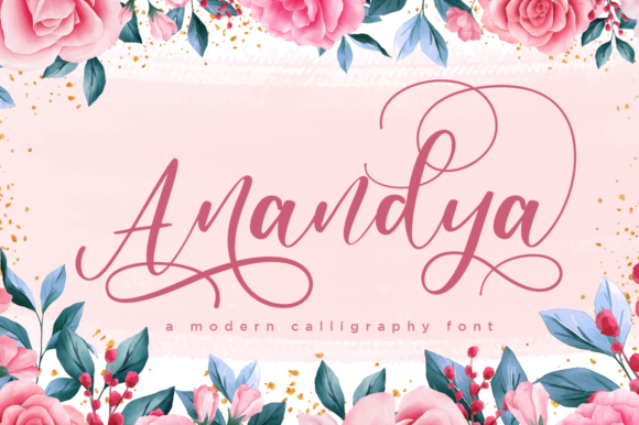 Print on Demand: Anandya Script & Handwritten Font By Haksen