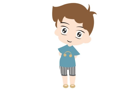 Boy Chibi Character Vector 36 Graphic Illustrations By harunikaart