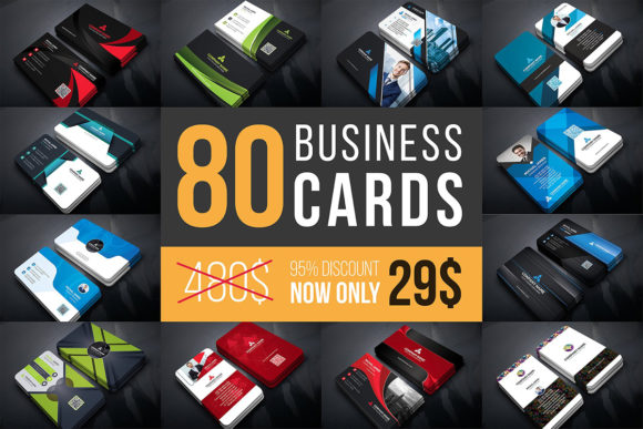 Print on Demand: Business Cards Bundle  By curvedesign