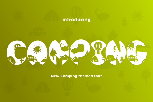 Print on Demand: Camping Display Font By Rusd studio