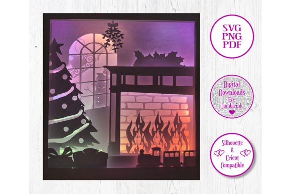 Christmas - 3D Paper Cut Template Graphic