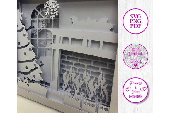 Christmas - 3D Paper Cut Template Graphic Preview