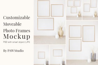 Print on Demand: Customizable Moveable Photo Frames Graphic Product Mockups By PawMockups