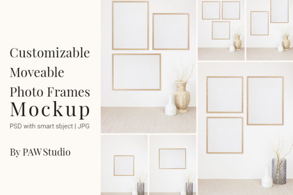 Print on Demand: Customizable Moveable Photo Frames   Graphic Product Mockups By PawMockup