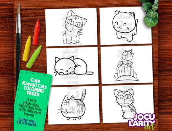 Cute Kawaii Dogs Coloring Pages (Graphic) by JocularityArt