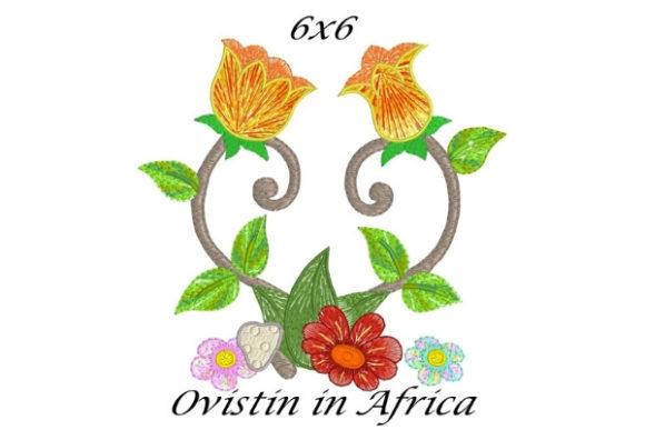 Cute Spring Blossom Garden Flower Bouquets & Bunches Embroidery Design By Ovistin in Africa