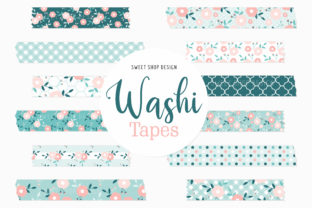 Digital Washi Tape Little Flowers Graphic Illustrations By Sweet Shop Design