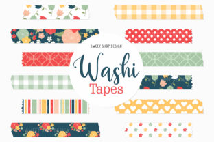 Digital Washi Tape Pretty Flowers Graphic Illustrations By Sweet Shop Design