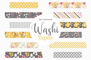Digital Washi Tape Spring Poppies Graphic Illustrations By Sweet Shop Design