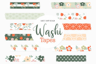 Digital Washi Tape Summer Flowers Graphic Illustrations By Sweet Shop Design
