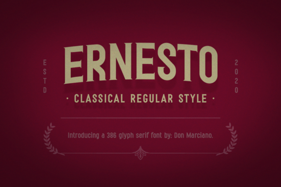 Print on Demand: Ernesto Serif Font By DonMarciano