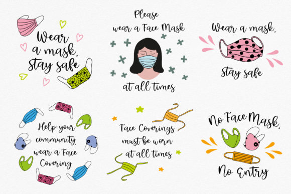 Face Masks Infographics Graphic Illustrations By RedDotsHouse