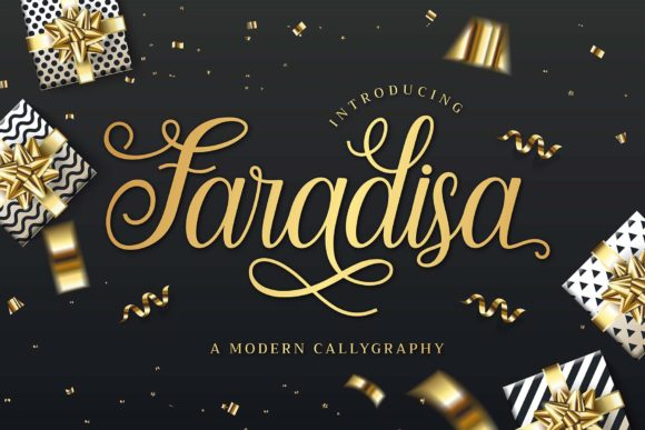 Print on Demand: Faradisa Script & Handwritten Font By Graphicxell