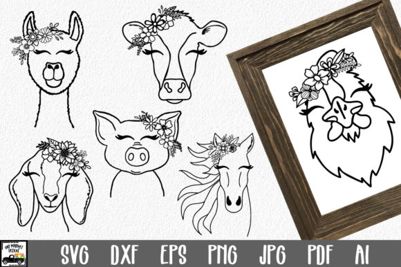 Print on Demand: Farm Animals Bundle Graphic Crafts By oldmarketdesigns
