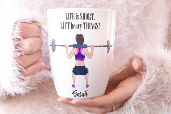 Girls Workout Clipart Graphic Illustrations By LeCoqDesign - Image 8