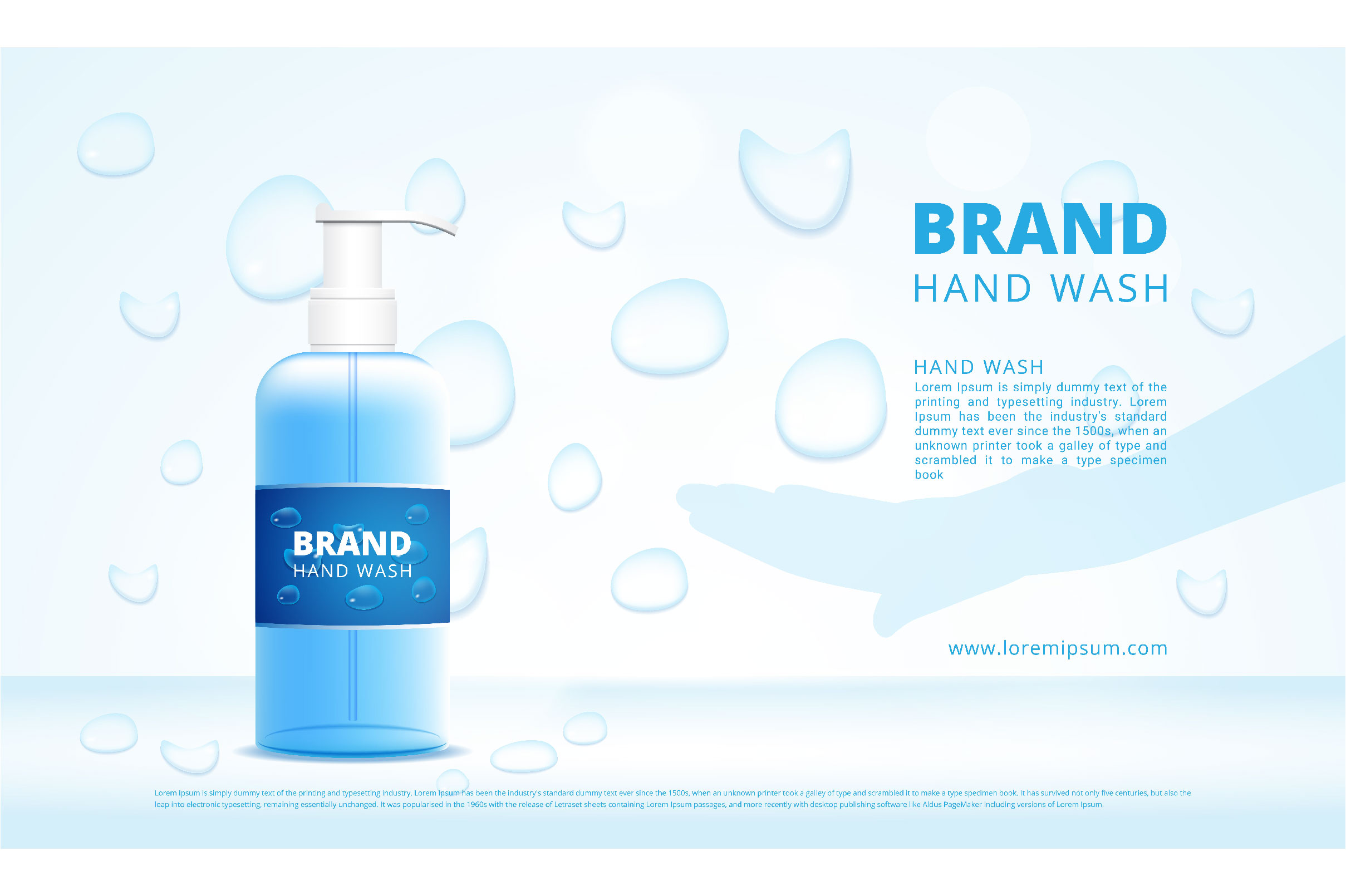 Download Free Hand Wash Gel Bottles Advertising Graphic By Nhongrand Creative Fabrica PSD Mockup Template