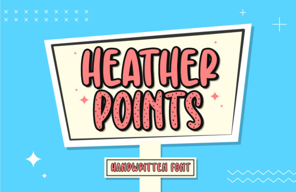 Print on Demand: Heather Points Sans Serif Schriftarten von Typefar