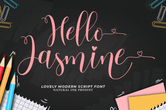 Print on Demand: Hello Jasmine Script & Handwritten Font By Natural Ink