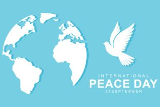 International Day of Peace with Dove Graphic Illustrations By 2qnah