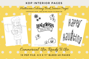 Print on Demand: KDP Halloween 40 Coloring Pages Kids Graphic KDP Interiors By Simpsys Designs  1