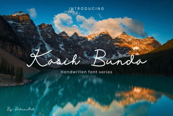 Print on Demand: Kasih Bunda Script & Handwritten Font By Pidco.art