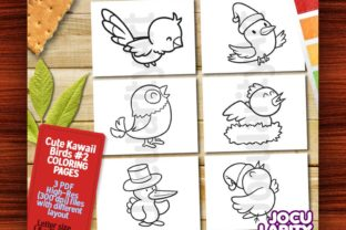 Kawaii Birds Theme #2 Coloring Pages Graphic Coloring Pages & Books Kids By JocularityArt 1