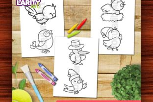 Kawaii Birds Theme #2 Coloring Pages Graphic Coloring Pages & Books Kids By JocularityArt 2