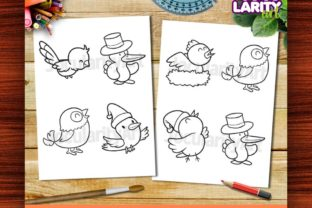 Kawaii Birds Theme #2 Coloring Pages Graphic Coloring Pages & Books Kids By JocularityArt 3