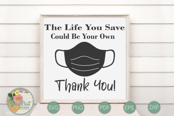 Print on Demand: Life You Save Graphic Crafts By QueenBrat Digital Designs