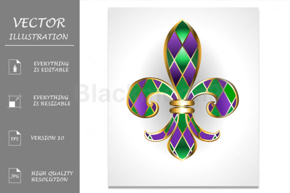Lily Mardi Gras Graphic Illustrations By Blackmoon9