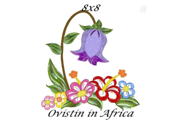 Lovely Spring Blossom Garden Flower Bouquets & Bunches Embroidery Design By Ovistin in Africa