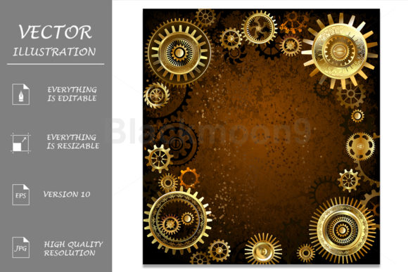 Machinery Concept Steampunk Graphic Backgrounds By Blackmoon9