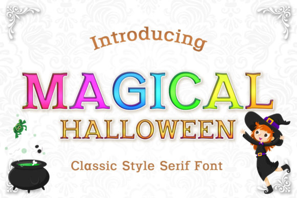 Print on Demand: Magical Halloween Serif Font By numnim