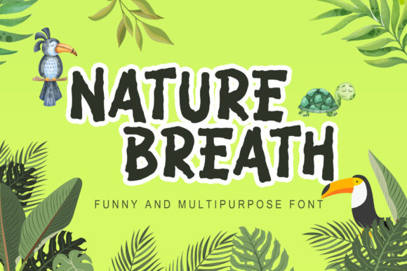 Print on Demand: Nature Breath Display Font By Lettersiro Co.