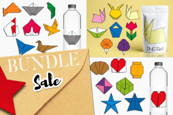 Print on Demand: Origami Illustrations Bundle Graphic Illustrations By Revidevi