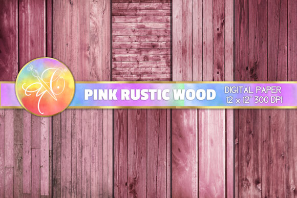 Pink Rustic Wood Digital Paper Graphic Backgrounds By paperart.bymc