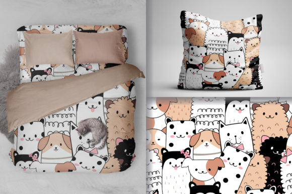 Seamless Pattern Cute Animal Cartoon Graphic Patterns By dinomikael01
