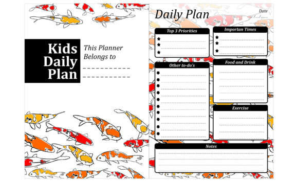Print on Demand: Simple KDP with Koi Fish Theme Graphic Crafts By Arief Sapta Adjie