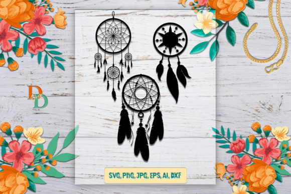 Split Dream Catcher  Graphic Crafts By denysdigitalshop