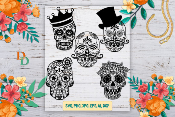Sugar Skull  Graphic Crafts By denysdigitalshop